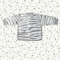 Детская махровая кофточка Серебряная Зебра