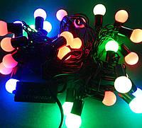 Гирлянда светодиодная Шарики L28 мульти