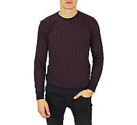 Бордовый свитер мужской, джемпер тонкий FODIL'S, фото 1