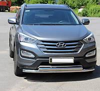 Защита переднего бампера Hyundai Santa Fee 2013- ST014