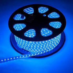 Светодиодная LED лента 5050 синие диоды бухта 100m, синяя лед лента