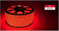 Светодиодная LED лента 5050 красные диоды (бухта 100m 220V), красная светодиодная лента