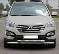 Защита переднего бампера Hyundai Santa Fee 2013- ST015
