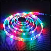Светодиодная лента комплект  5050 RGB цветные диоды (адаптер + контроллер + пульт)