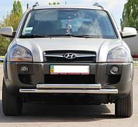 Защита переднего бампера Hyundai Tucson 2004-2010 ST014
