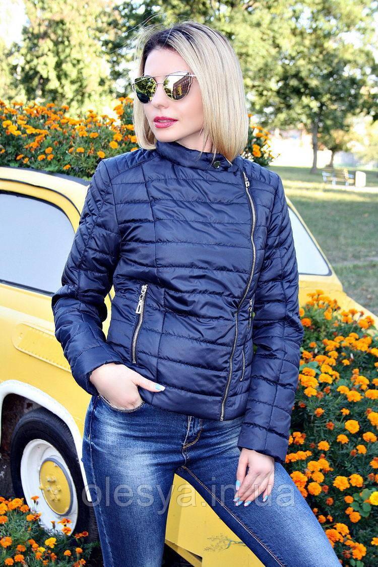 Куртка женская демисезонная №30 (5 цветов), короткая демисезонная куртка, дропшиппинг 42, черный
