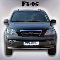 Защита переднего бампера Kia Sorento 2002-2009 ST008, фото 1