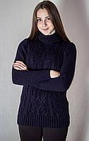 Свитер женский № 1718 р. 44-48 темно-синий