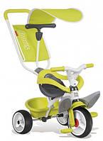 Детский металлический велосипед с козырьком и багажником, зеленый, 10 мес. +