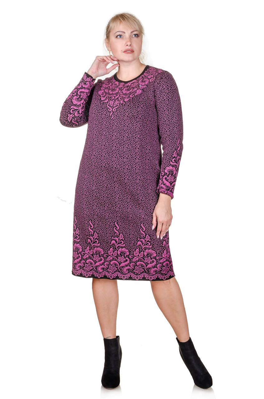 Вязаное платье большой размер Palmira сирень (48-58)