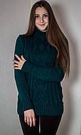 Свитер женский № 1715 р. 42-48 темно-зеленый