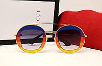 Женские солнцезащитные очки Gucci GG0105 (радуга)