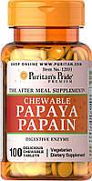 Ферменты/ Энзимы Puritan's Pride Papaya Enzyme 100 Tablets