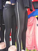 Модные женские лосины с вставками на байке