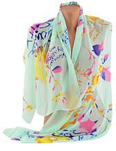 Нежный женский шарф, шифон, 150х51 см, Trаum 2495-78, цвет зеленый.