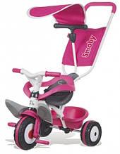 Детский металлический велосипед с козырьком и багажником, розовый, 10 мес. +