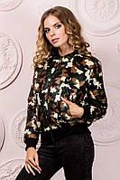 Женская куртка на резинке ткань плащевка на синтепоне 150 до 52 размера цвет камуфляж зеленый