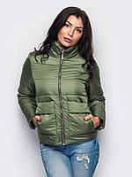 Женская модная куртка цвета хаки р.42,44,46,48,50,52