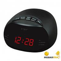 Часы сетевые 901-1 красные, часы fm радио, электронные настольные часы с красной подсветкой циферблата