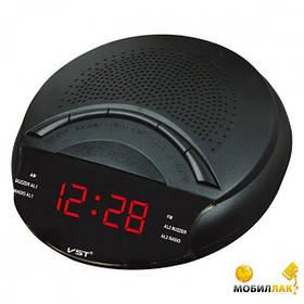 Часы сетевые VST 903-1 красный циферблат, электронные радиочасы, часы fm радио, настольные сетевые часы