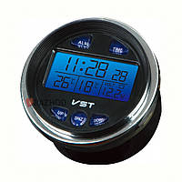 Автомобильные часы VST 7042V, часы автомобильные электронные, авточасы с термометром vst, круглые авточасы