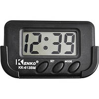 Авточасы Kenko 613А, автомобильные часы Кенко, компактные часы в автомобиль, часы в машину, авто часы