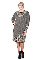 Вязаное платье большой размер Palmira беж (48-58)