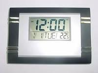Многофункциональные часы с градусником Kenko KK-6869, настенно-настольные электронные часы, часы-будильник