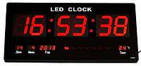 Большие настенные электронные LED часы с календарём и термометром CW 4600, часы настенные многофункциональные