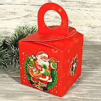 Складная новогодняя подарочная коробка с глиттером и 3D аппликацией 7710418-20 (12 шт)