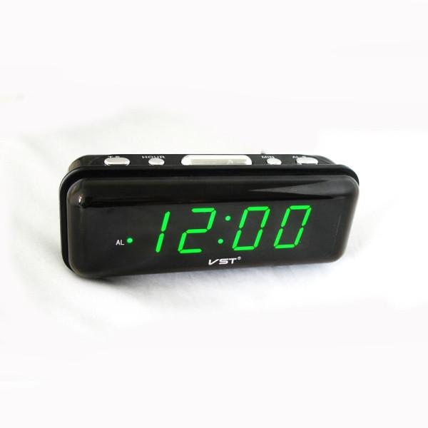 Часы сетевые VST 738-2 зеленые, часы будильник электронные настольные,  настольные электронные часы 878f49a0f8e