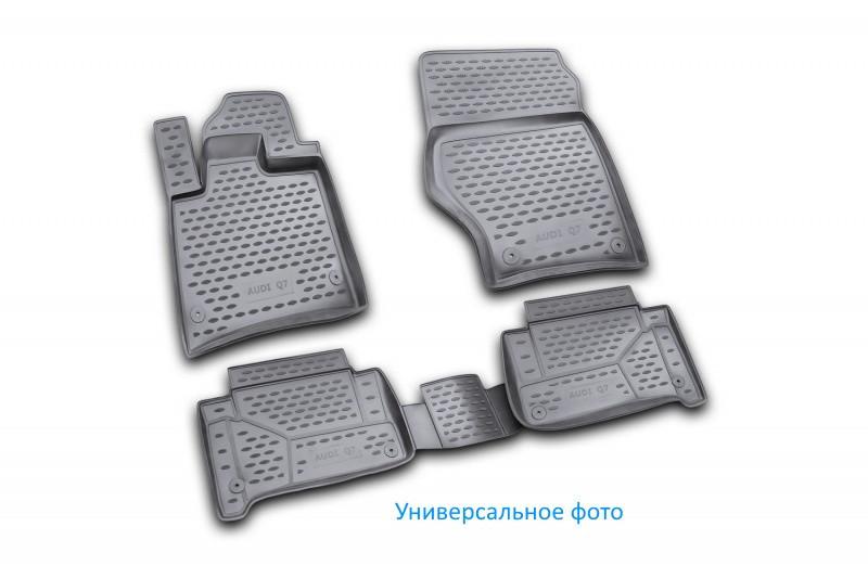 Коврики в салон для Mitsubishi L200, 2015->, Бюджетная комплектация, 4 шт полиуретан (3D)  CARMIT00003