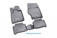 Коврики в салон для Mitsubishi L200, 2015->, Бюджетная комплектация, 4 шт полиуретан (3D)  CARMIT00003, фото 1
