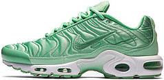 Кроссовки женские Найк Nike Air Max Plus Satin Green. ТОП Реплика ААА класса.