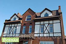 Фиброцементные плиты на фасадах коттеджей