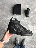 Кроссовки Nike Lunar Force 1 Flyknit Workboot Black, найк аир форс