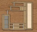Гостиная Лира 1 МДФ (Континент) 1800х430х1800мм, фото 5