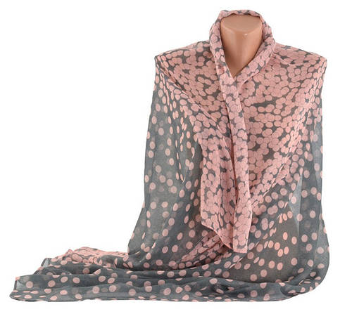 Стильный легкий женский шарф, хлопок, 160х80 см, Trаum 2495-80, цвет розовый.