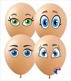Наклейки на шары(глаза,губы)