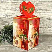 Складная новогодняя подарочная коробка с глиттером 7710418-18 (12 шт)
