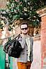 Дорожная сумка кожаная черная Eminsa 6541-4-1, фото 4