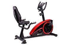 Горизонтальный велотренажер Hop-Sport HS-67R Axum black/red , фото 3