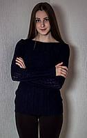 Джемпер тонкий № 1604 р. 42-46 темно-синий
