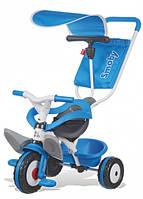Детский металлический велосипед с козырьком и багажником, голубой, 10 мес. +