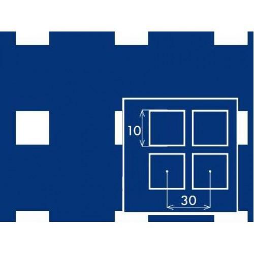 Лист перфорированный с квадратными отверстиями 10*10 шаг 30 толщина 2,0 мм размер 1,0*2,0 метра  от Гост Метал