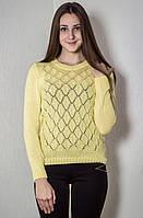 Джемпер легкий № 1602 р. 42-46 желтый