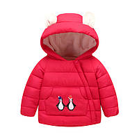 Куртка на махре Пингвин (красн) 90,100,110,120