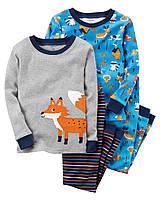 """Пижама для мальчика 4в1 Carter's """"В лесу"""" 2Т,3Т"""