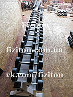 Гантельный ряд от 10до 40 кг + 45, 50 кг, 990 кг + порошковая покраска + оцинкованные ручки