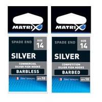 Крючки   Matrix Silver Barbless Hooks Size 1610шт